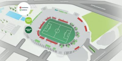Mappa di Allianz Parque - tribuna Inferiore