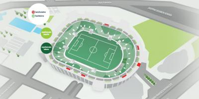 Mappa di Allianz Parque - tribuna Superiore